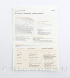 Defensie instructiekaart IK 2-6 preventie warmteletsel - origineel