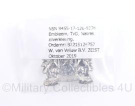 Defensie DT kraagspiegel ENKEL - nieuw in verpakking - Natres Nationale Reserve 2019 - 3,5 x 3 cm - origineel