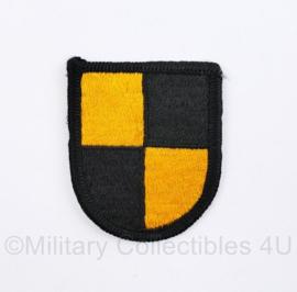 US Army naoorlogse cap beret Flash voor op de baret US Army Ranger beret flash  - 6 x 5 cm - origineel