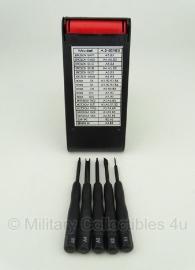 Mini schroevendraaierset voor uitrusting, bajonetten etc.