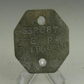 WW2 Australian dogtag PTE R.W. THIBODEAU G32687