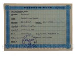 Stalag tewerkstelling - Nederlandse krijgsgevangene - Hendrik Adrianus Goossens Amsterdam