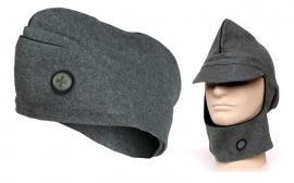 Zwitserse leger blauwgroen wollen schuitje en multifunctionele cap - origineel