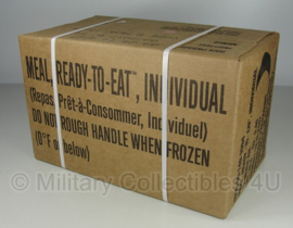 1 doos met 12 US Army MRE rantsoenen DOOS A = menu 1 tm 12 - Meal Ready to Eat  - houdbaar tot 8-2021