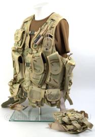 Russische Leger - Desert Camo Spetznaz OPS Vest - Zeer uitgebreide set - zelfs met Holster en Beentas - Maat XL - Origineel