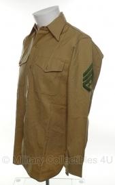 USMC Khaki Shirt - Staff Sergeant - meerdere maten - origineel