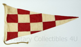 Wo2 British Royal Navy signaal vlag  - gebruikt - 94x47x1 cm - origineel