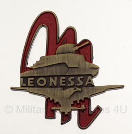"""WW2 Italian Blackshirt IX Settembre Battalion Leonessa Distintivo 1ª Divisione corazzata di Camicie Nere """"M"""" insigne in geschenk- of displaydoosje"""