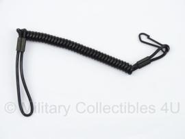 KL Spiraalkoord pistool zwart - origineel leger