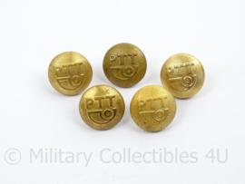 PTT Knoop klein - goudkleurig - doorsnede 1,55 cm - prijs per stuk - origineel