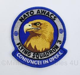 Klu Luchtmacht embleem Nato awacs flying Squadron 3 - met klittenband -  origineel