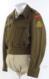 """MVO uniform jas """"Garde Grenadiers"""" met embleem """"nationaal commando"""" - maat 48 - origineel"""