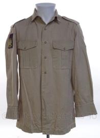 KM Koninklijke Marine, Korps Mariniers dik khaki overhemd LANGE MOUW - maat 39 uit 1977 - origineel