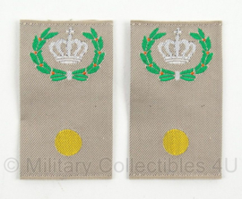 KL Landmacht Desert schouder epauletten Adjudant Onderofficier - afmeting 4,5 x 8 cm - origineel