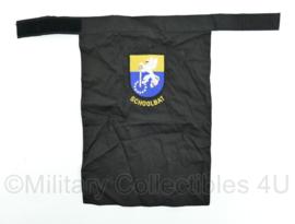 KL Nederlandse leger halssjaal - schoolbataljon - zwart - 47 x 34 x 0,1 cm - origineel