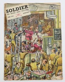 The British Army Magazine Soldier June 1954 -  Afkomstig uit de Nederlandse MVO bibliotheek - 30 x 22 cm - origineel