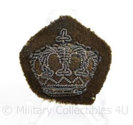 Nederlandse MVO rang kroontje met metaaldraad - 3,5 x 3,5 cm - origineel