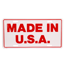 Nummerplaat MADE IN USA