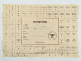 WO2 Duitse Ausweiskarte - origineel
