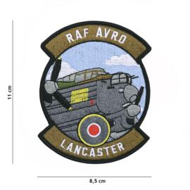 Embleem stof RAF AVRO Lancaster - 11 x 8,5 cm.