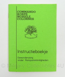 Commando Korps Mobiele Colonnes instructieboekje - Gewondenzorg -afmeting 10 x 15 cm - origineel