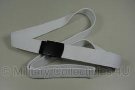 Luchtmacht KLU beveiliging broekriem wit - ongebruikt - verstelbare lengte - origineel