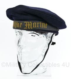 Koninklijke Marine matrozen muts model jaren 40 en 50 donkerblauw  - maat 57 - origineel