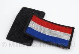Nederlandse vlag emblemen PAAR - huidig model - met klittenband - origineel