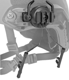 MICH FAST helm Koptelefoon bevestigingsset (zonder koptelefoons) - BLACK