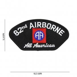 "82nd airborne Division embleem ""All American""- stof - 10,5 x 5,5 cm."