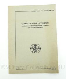 MVO Defensie handleiding - verzorgingsverplaatsingen met motorvoertuigen - cursus reserve officieren - aan- en afvoertroepen - origineel