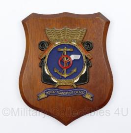 KM Koninklijke Marine Motor Transport Dienst wandbord - 18 x 14 x 1,5 cm - origineel