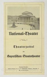 National Theater Theaterzettel der Baterischen Staatstheater - origineel 1932