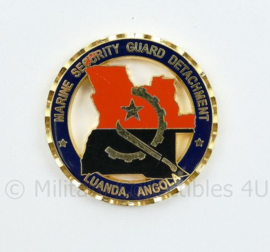 Zeldzame coin US Marine Security Guard Detachment Luanda Angola - diameter 5 cm - origineel