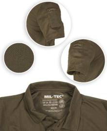 Tactical Quick Dry Polishirt korte mouw - met klittenband op de mouwen - ZWART - nieuw gemaakt