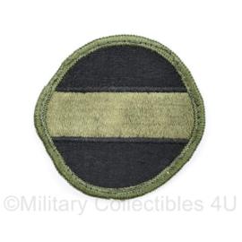 US Army Naoorlogs subdued embleem Forscom US Army Forces Command - 6 x 6 cm - origineel