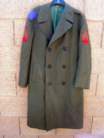USMC US Marine Corps mantel overjas Overcoat Man's Wool - Sergeant- size 38R= NL 48 (valt groot) - origineel