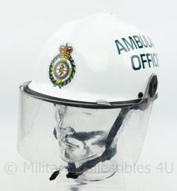 Mersey Regional Ambulance Service Rescue helm Ambulance Officer  - wit -  verstelbaar maat 54 - 62 cm  - origineel
