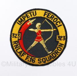 KLU Luchtmacht 323 Squadron F16 RNLAF IMPETU FEROCI - diameter 10 cm - origineel