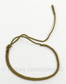 Nederlands leger vroeg model koord - bruin/groen - origineel