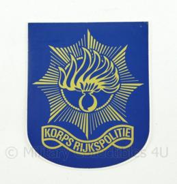 Korps rijkspolitie te water sticker - ongebruikt - 6,5 x 8,5 cm - origineel
