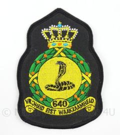 KLu Luchtmacht eenheid embleem 640e Squadron - afmeting 8 x 11,5 cm - origineel