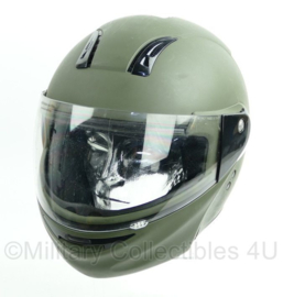 Groene militaire motorhelm  -  maat 59/60 = Large  - origineel