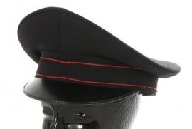 Italiaanse Carabinieri politie platte pet - zwart met rode bies - Ongebruikt - meerdere maten  - origineel