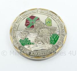 Zeldzame coin US Army Garrison Fort Bliss Serving The Nation - diameter 5 cm - origineel