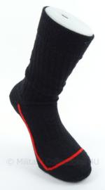 KL Landmacht sokken zwart met rode bies - gebruikt - maat 43/46 - origineel