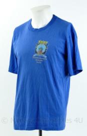 Korps Mariniers T-shirt met korte mouw - open dag marinierskazerne Savaneta Aruba 2010 - blauw - maat Medium - gedragen - origineel
