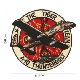 Embleem stof - The Tiger Team A-10 Thunderbolt - 11,5 x 10,8 cm