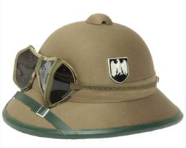 WO2 Duits replica DAK Afrika Korps tropenhelm inclusief stofbril