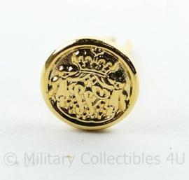 Nederlands Trouwe Dienst medaille baton opzetspeld Goudkleurig - diameter 1 cm - origineel
